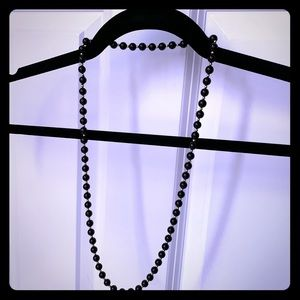 Vintage Black beaded necklace & bracelets